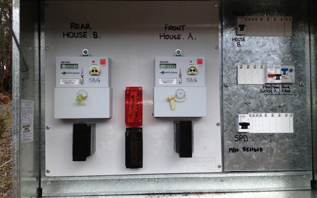 Gidgegannup – Single Phase Switchboard upgrade for a 2nd western power meter for a studio